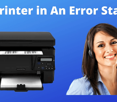 hp printer error state