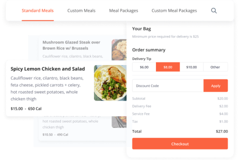meal prep delivery app