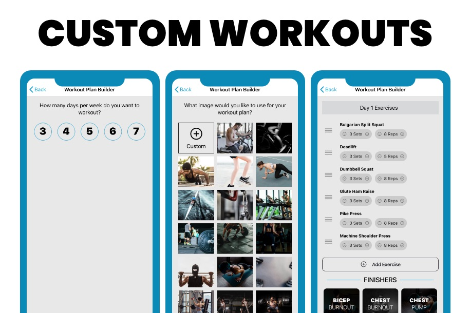 PHAT Workout App Custom Workout Builder
