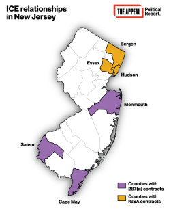 ICE relationships in New Jersey