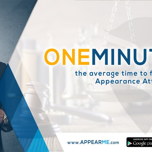 AppearMe Works Too Fast for Its Users – One Minute to Find an Appearance Attorney