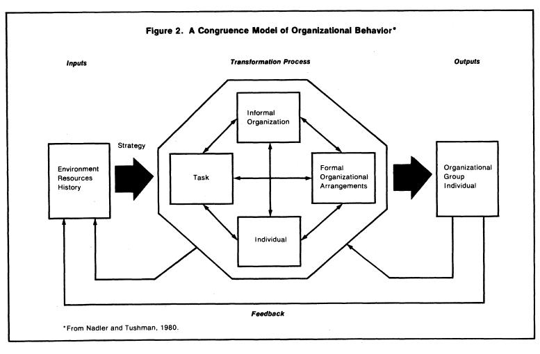 nadler and tushman congruence model
