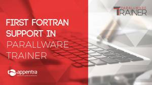 First Fortran support in Parallware Trainer