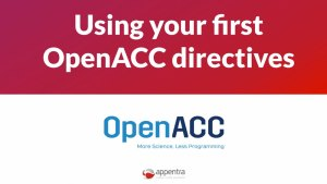 using OpenACC directives