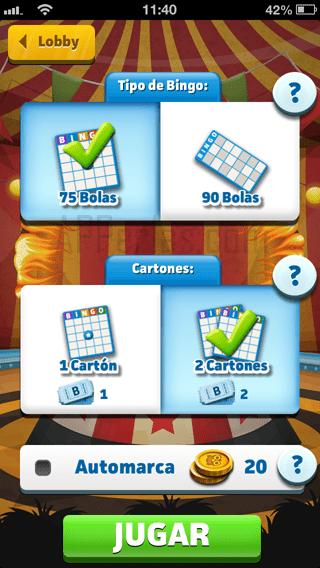 El juego Bingo crack