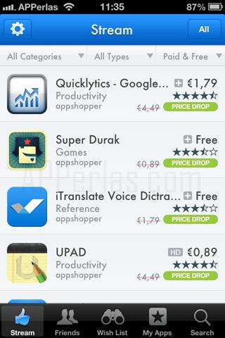 Apps Gratis con AppShopper Social