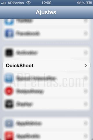 foto rápida con QuickShoot