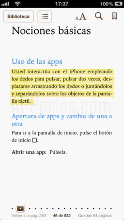 Notas en iBooks