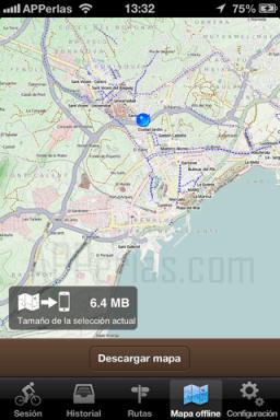 Mapas offline bicicleta de montaña