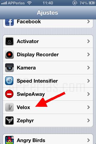 Velox mejora las notificaciones del iphone
