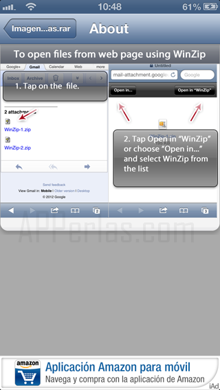 Winzip y iphone 5 compatibles