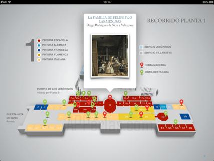 Mapas del museo del Prado