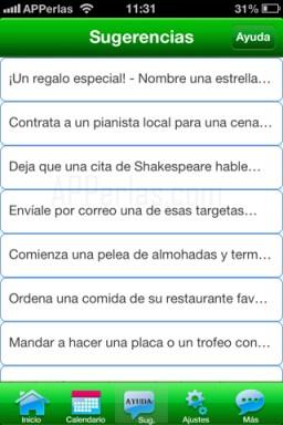 Consejos de la app ayuda periódica
