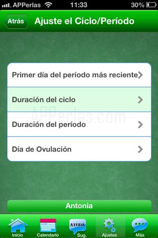 Ajustes app