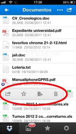 compartir archivos de Dropbox