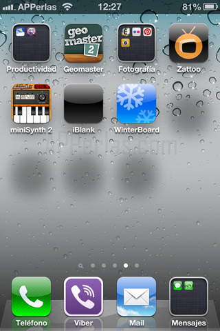 iconos del iPhone