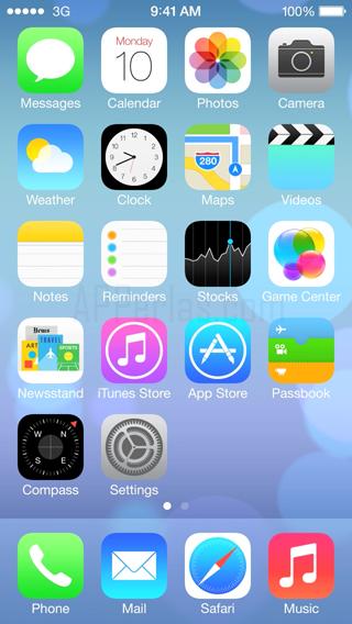 Nuevo diseño de iOS 7 para iPhone