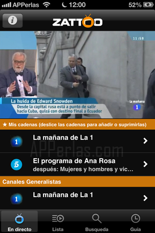 Ver la televisión en el iPhone, iPad y iPod TOUCH