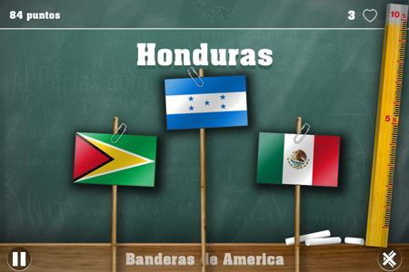 Banderas en Juego de geografía