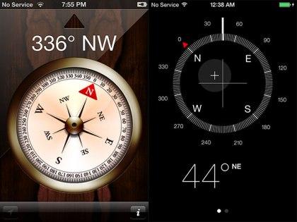 brújula iOS 7