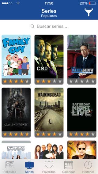 TVSOFA app para filtrar películas y series