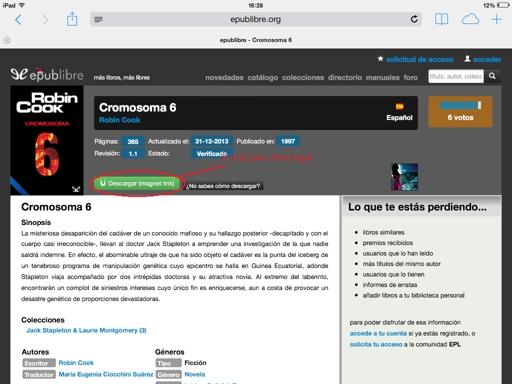 Descargar libros gratis en iPad