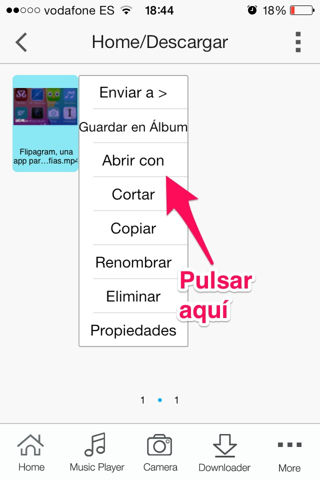 vídeos de youtube por Whatsapp en el iPhone