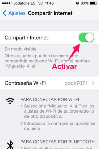 como compartir internet