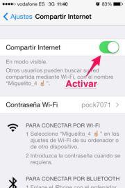 Compartir Internet con el iPhone estés donde estés