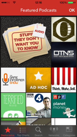 app de podcast para iPhone