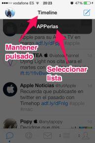 crear listas en Tweetbot para iPad