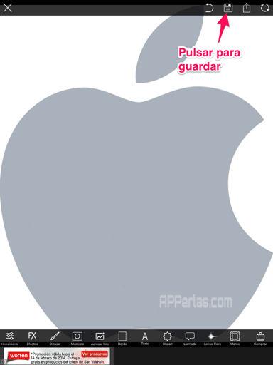 marcas de agua con el iPhone, iPad
