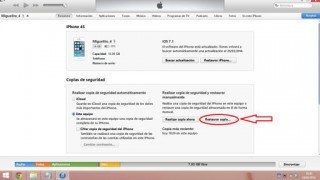 copia de seguridad en iOS desde iTunes