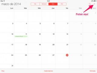 alerta en un evento de Calendario