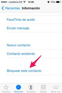 bloquear llamadas de terceros y mensajes