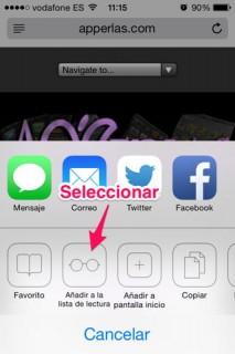 listas de lectura en iPhone