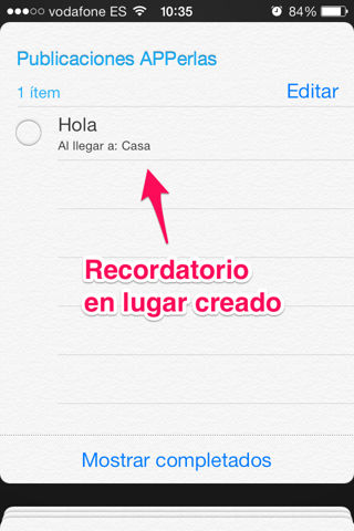 recordatorios en iPhone y iPad