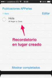 Recordatorios en iPhone y iPad - APPerlas