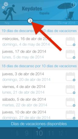 planificar vacaciones desde iPad