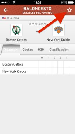 resultados deportivos para iOS