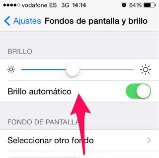 brillo automático del iPhone