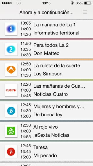 Guía de TV para iPhone