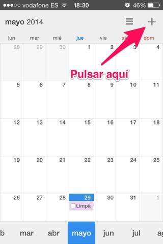 crear un evento en Calendars 1