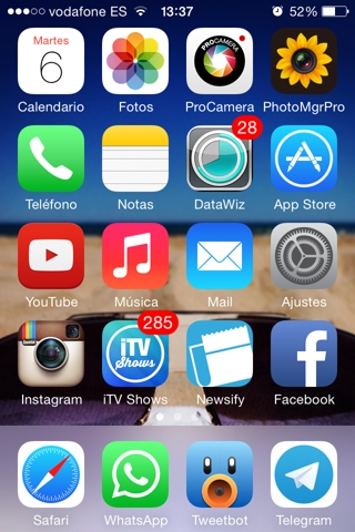 captura de pantalla en iPhone 3