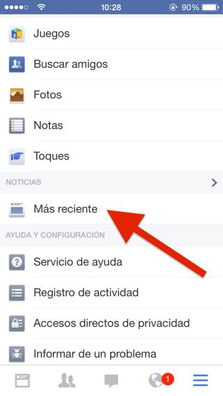 Nuevo Facebook 10.0