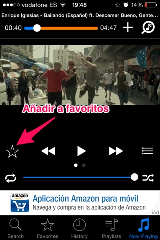 música de youtube en iPhone 4