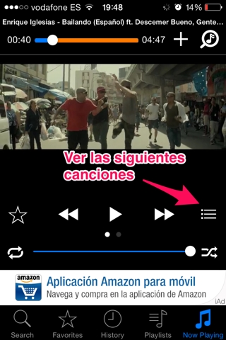 música de youtube en iPhone 5