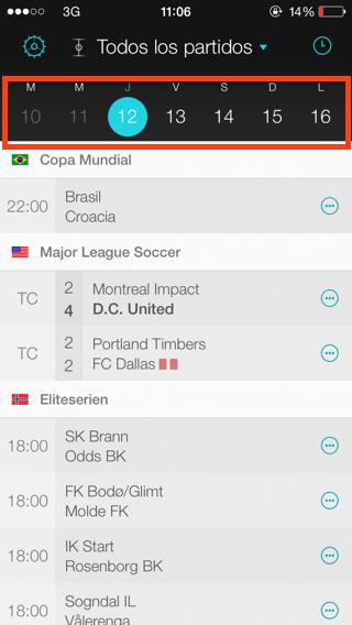 Forza Football, consulta partidos de la semana