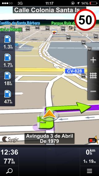 Navegador Sygic GPS sin conexión