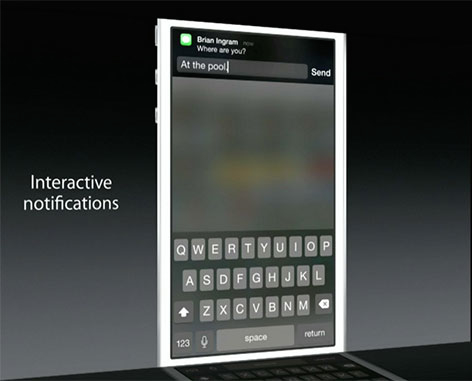 iOS 8 notificaciones interactivas